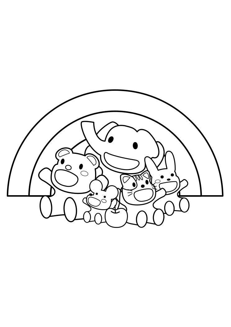 's collabo coloring pages for kids
