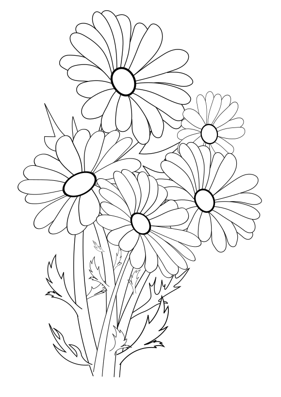 Flower 2 Free coloring page for kids