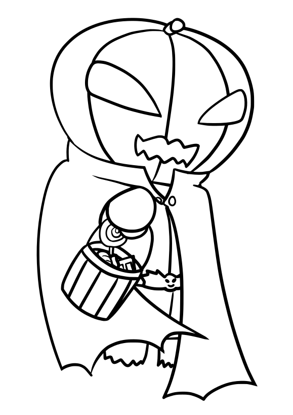 Jackolantern Free coloring page for kids