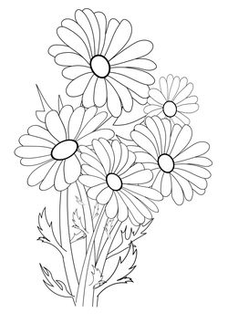 Flower 2 free coloring pages for kids