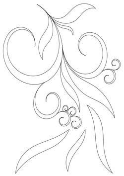 Pattern of plants and trees  free coloring pages for kids