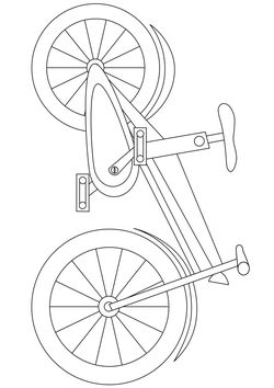 bicycle Coloring Pages for kids