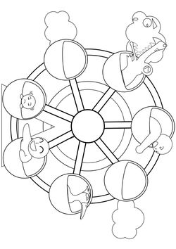 Tourist car Coloring Pages for kids