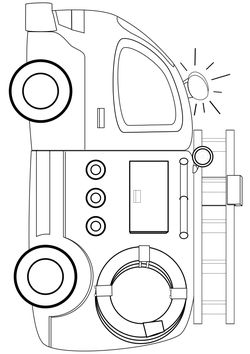 Fire engine Coloring Pages for kids