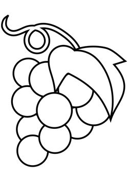 Grape free coloring pages for kids