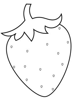 Strawberry free coloring pages for kids