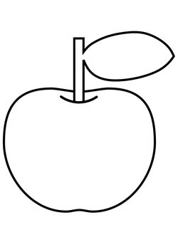 Apple free coloring pages for kids