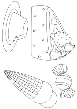 sweets Coloring Pages for kids