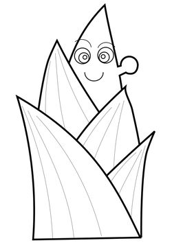 bamboo shoots Coloring Pages for kids