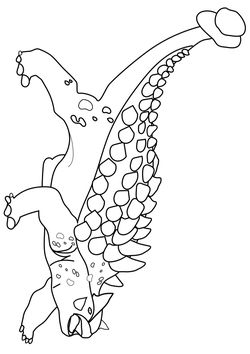 Ankylosaurus free coloring pages for kids