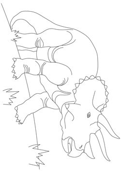 Triceratops (Real) free coloring pages for kids
