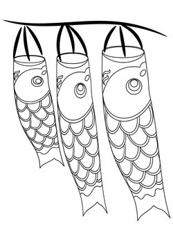 Koinobori coloring book free coloring pages for kids