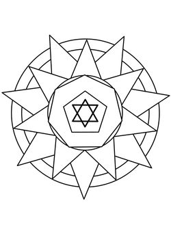 Mandala 5 Coloring Pages for kids
