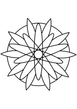Mandala 7 floral pattern Coloring Pages for kids