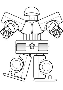 Patorobo 2 Coloring Pages for kids