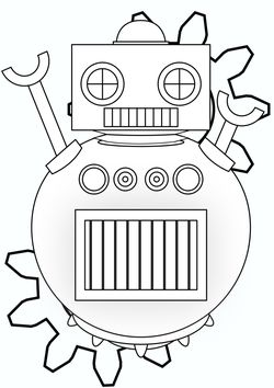 Robo 1 free coloring pages for kids