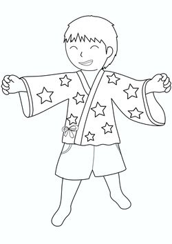 A boy in a javelin  free coloring pages for kids