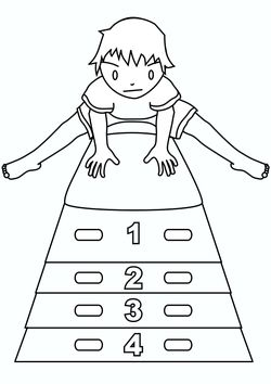 Jumping box free coloring pages for kids