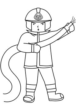 Firefighter free coloring pages for kids