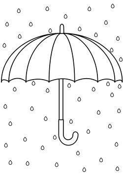 umbrella Coloring Pages for kids