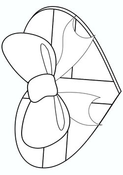 Valentino Chocolate free coloring pages for kids