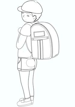 Boy carrying a parcel  free coloring pages for kids