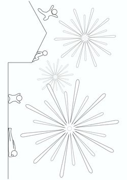 Fireworks free coloring pages for kids