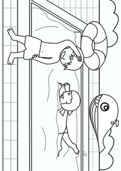 The pool free coloring pages for kids