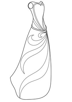 Dress 1 Coloring Pages for kids