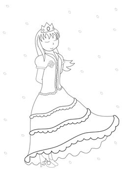 Princess 2 free coloring pages for kids