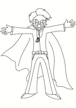 Dracula free coloring pages for kids
