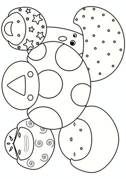 Mushroom family Coloring Pages for kids