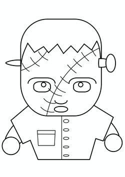 Frankenstein free coloring pages for kids