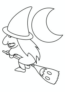 witch free coloring pages for kids