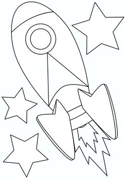 rocket free coloring pages for kids