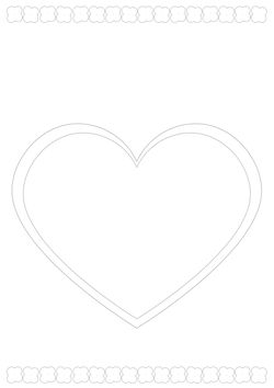 Letter heart 1 Coloring Pages for kids