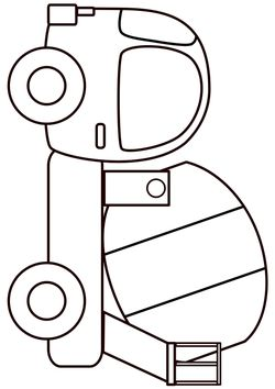 Mixer car Coloring Pages for kids