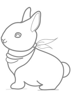 Rabbit 1 free coloring pages for kids
