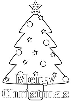Christmas tree free coloring pages for kids