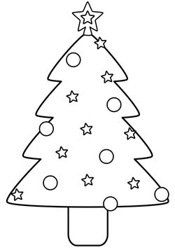 Christmas tree without letter  free coloring pages for kids