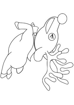 reindeer free coloring pages for kids