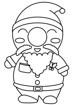 Santa Claus free coloring pages for kids