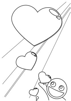 Heart 9 free coloring pages for kids