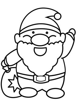 Santa 2 free coloring pages for kids