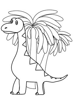 Brachiosaurus free coloring pages for kids