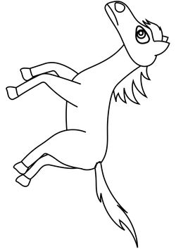 Horse free coloring pages for kids