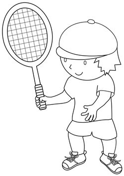 tennis free coloring pages for kids