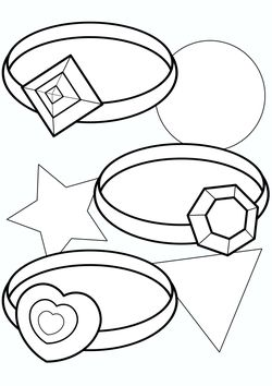 Glittering jewelry ring Coloring Pages for kids
