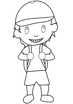boy free coloring pages for kids
