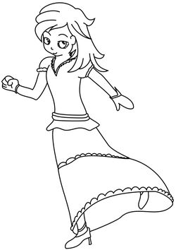 Princess 3 free coloring pages for kids